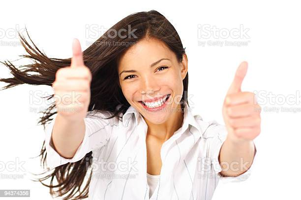 Success Woman Thumbs Up Stock Photo - Download Image Now