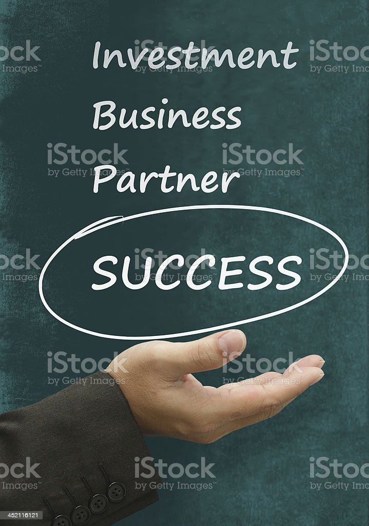 success word on blackboard royalty-free stock photo