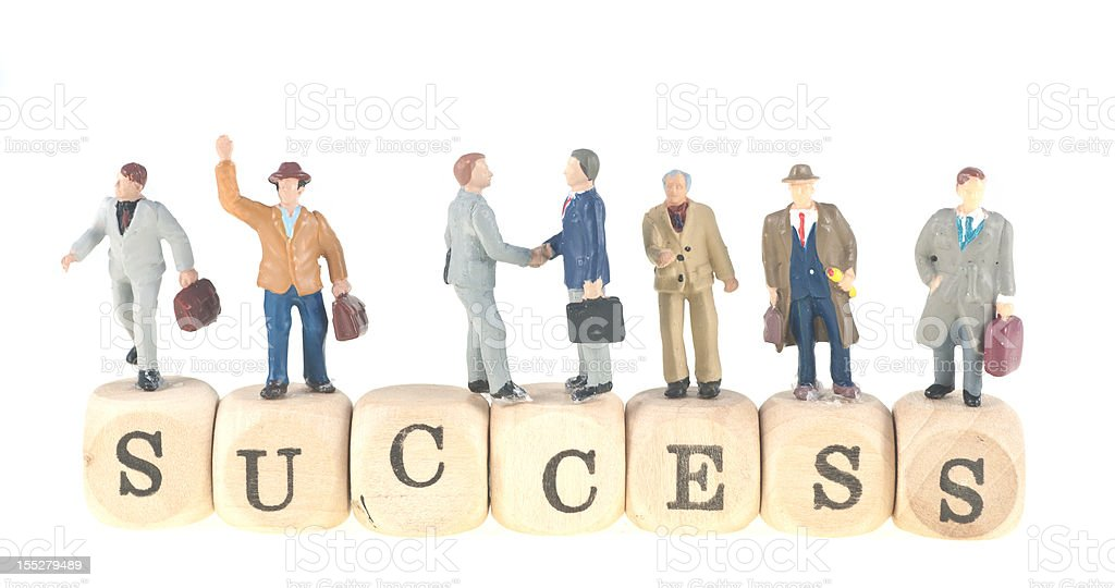 success word with businesspeople abstract royalty-free stock photo