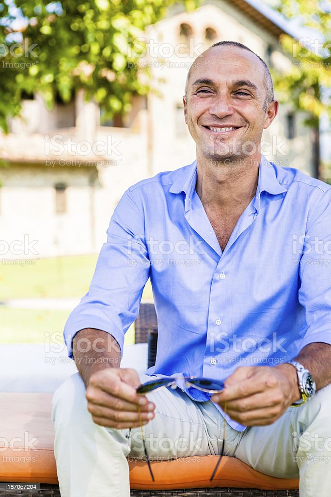 Successful 45 Years Old Man, Italian Entrepreneur royalty-free stock photo