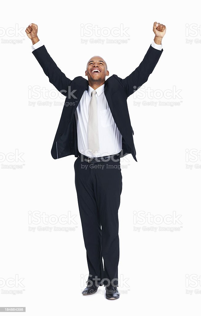 Successful African American business man stock photo