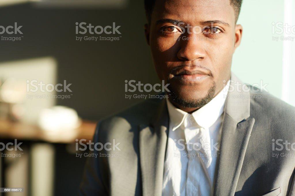 Successful African-American Businessman stock photo