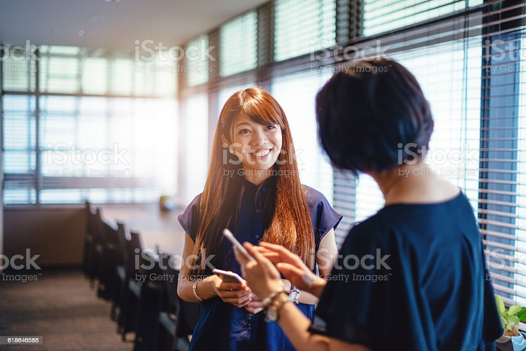 Successful agreement in Japanese business community stock photo