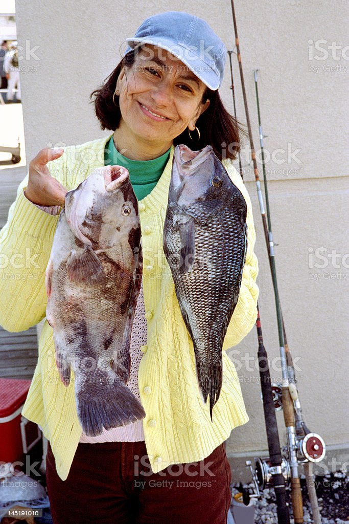 Successful Angler stock photo