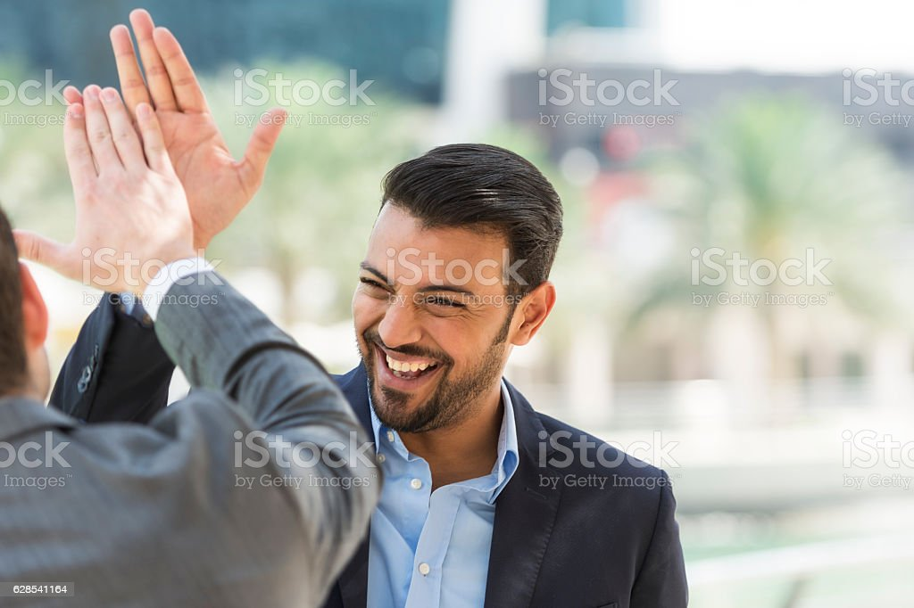 Successful Arabic businessman stock photo