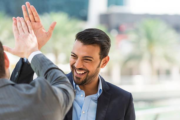 Successful Arabic businessman - foto stock