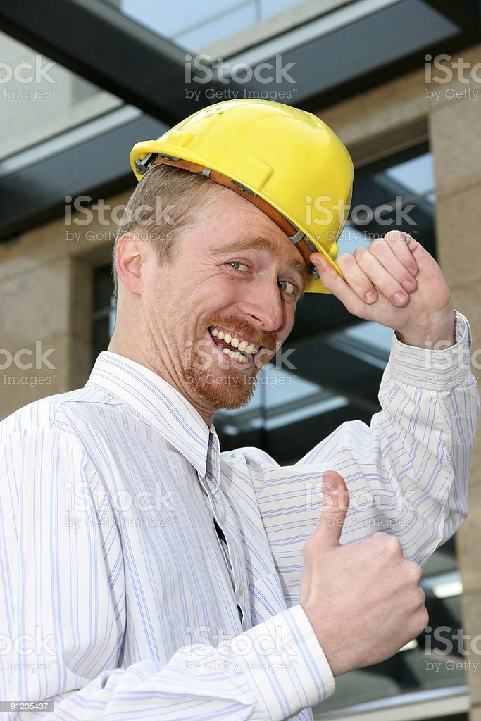 successful architect royalty-free stock photo