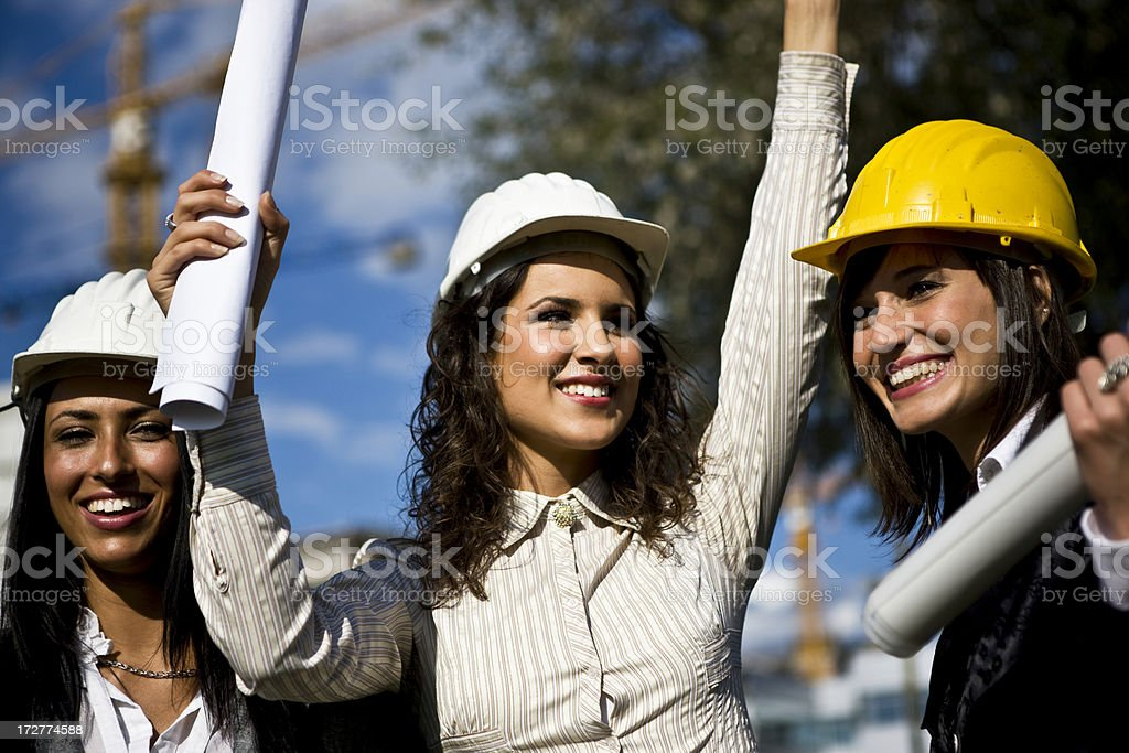 Successful architects royalty-free stock photo