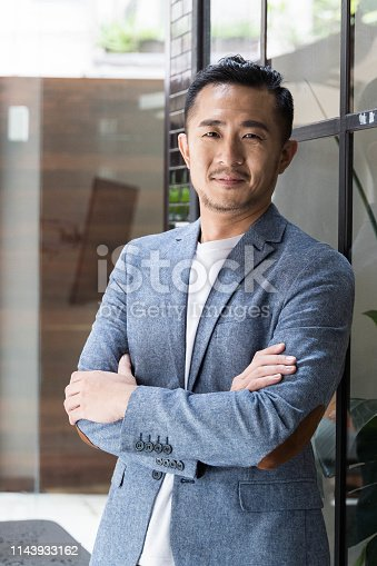 960195072 istock photo Successful Asian Businessman in a Modern Coworking Space 1143933162