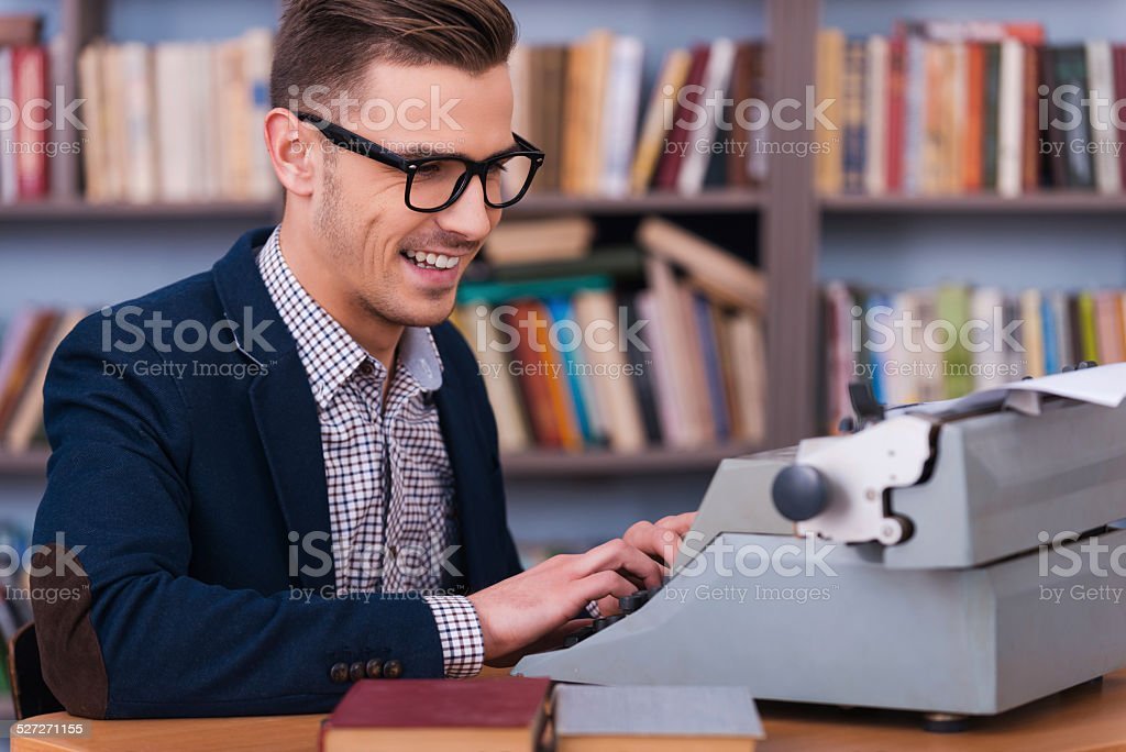 Successful author. stock photo