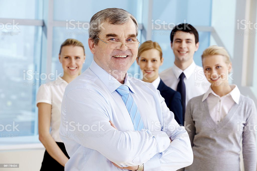 Successful boss royalty-free stock photo