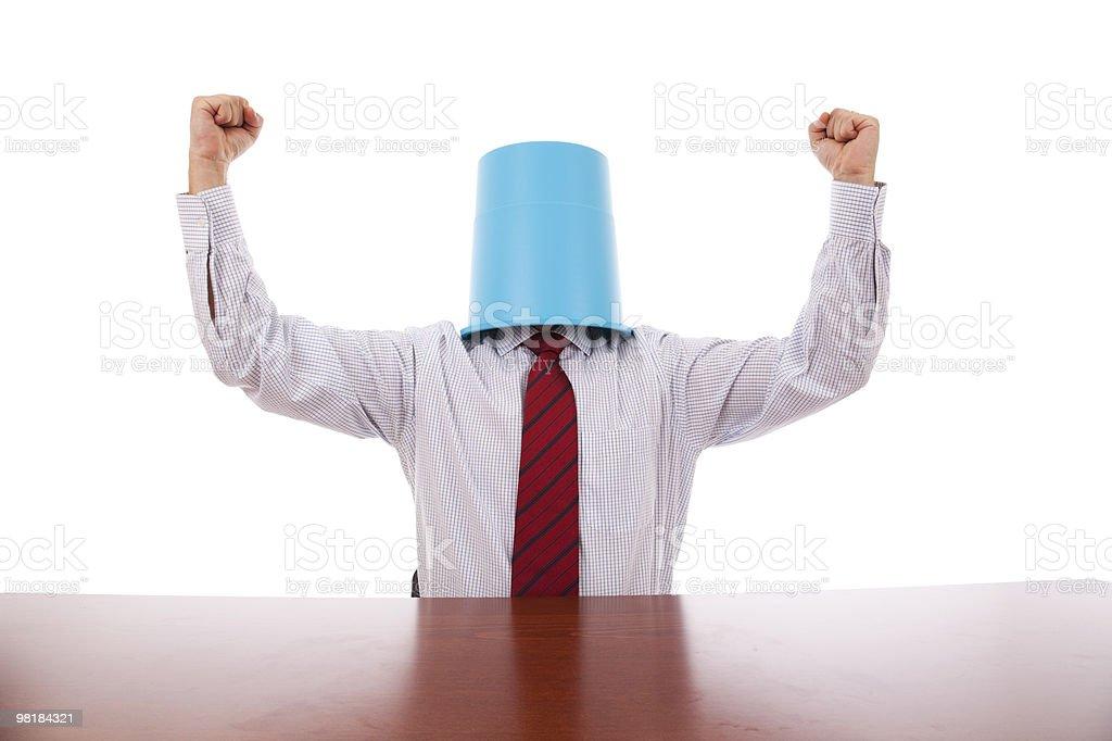 Successful buctket head men royalty-free stock photo