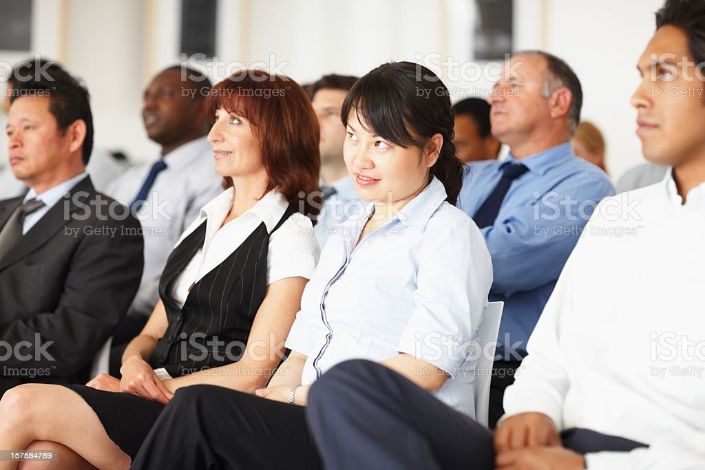 Successful business executives attending a seminar royalty-free stock photo