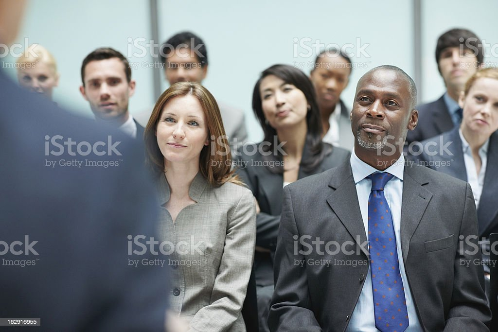 Successful business group attending conference royalty-free stock photo