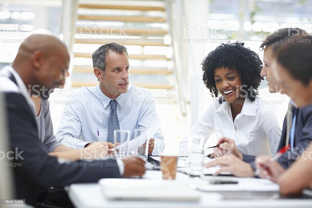 Successful business group in office meeting royalty-free stock photo