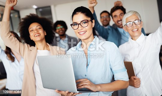 istock Successful business group of people at work in office 1094814084