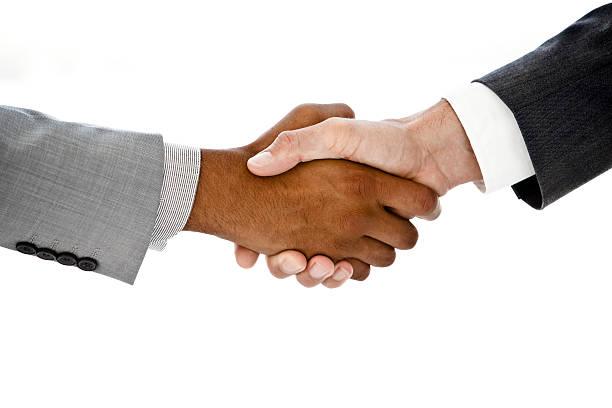 Successful business handshake stock photo