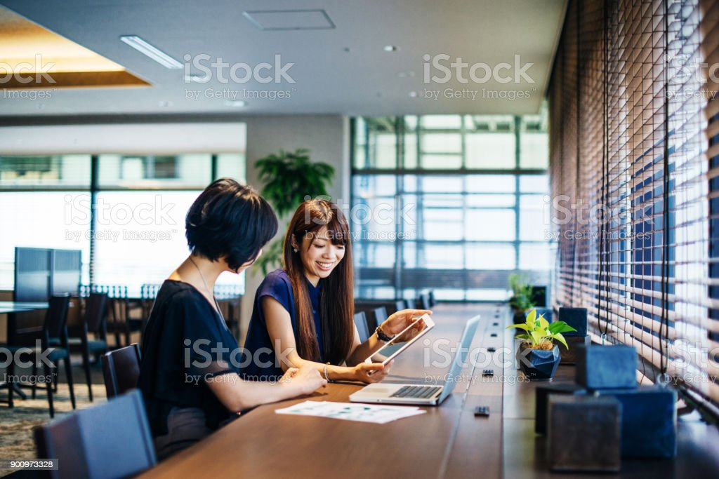 Successful business investments are implemented stock photo