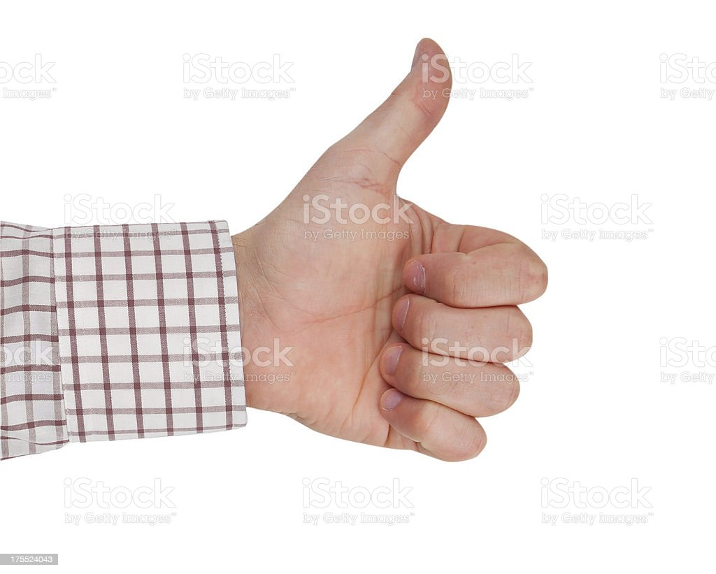 Successful business man hand royalty-free stock photo