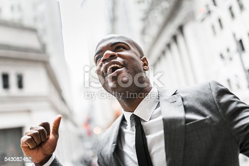 istock Successful business man with thumbs up 543082452