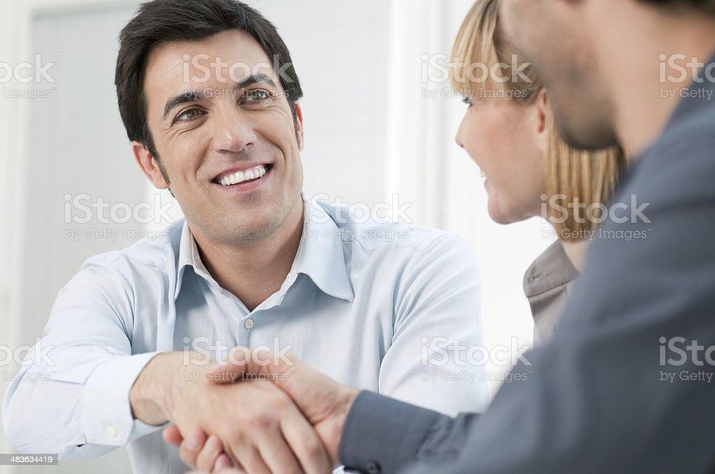 Successful business meeting stock photo