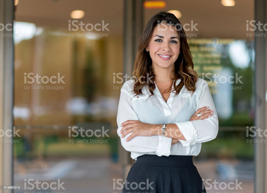 Successful business owner stock photo