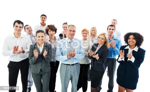 istock Successful Business People Applauding on a meeting. 185311362