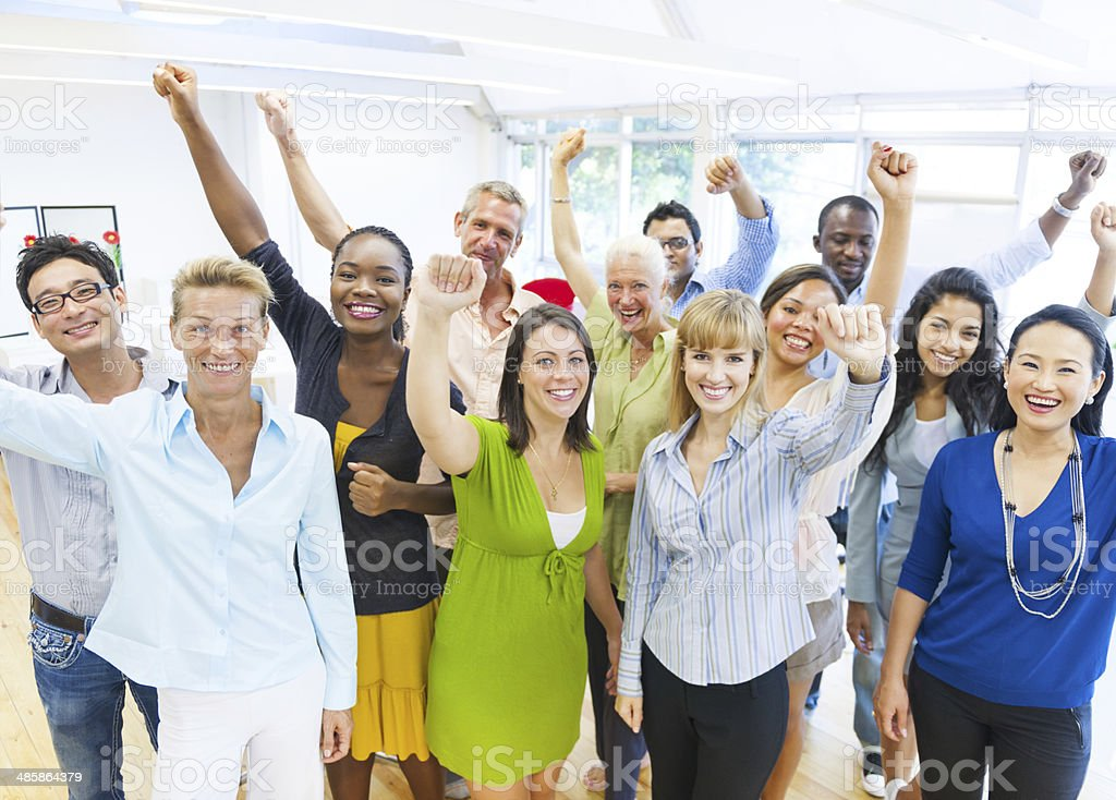 Successful Business People Celebrating stock photo