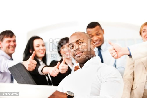 istock Successful Business People Showing Thumbs Up 470584257