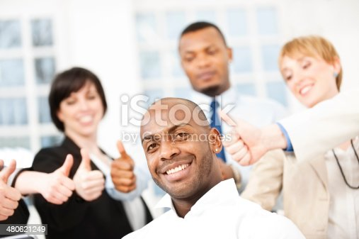istock Successful Business People Showing Thumbs Up 480621249