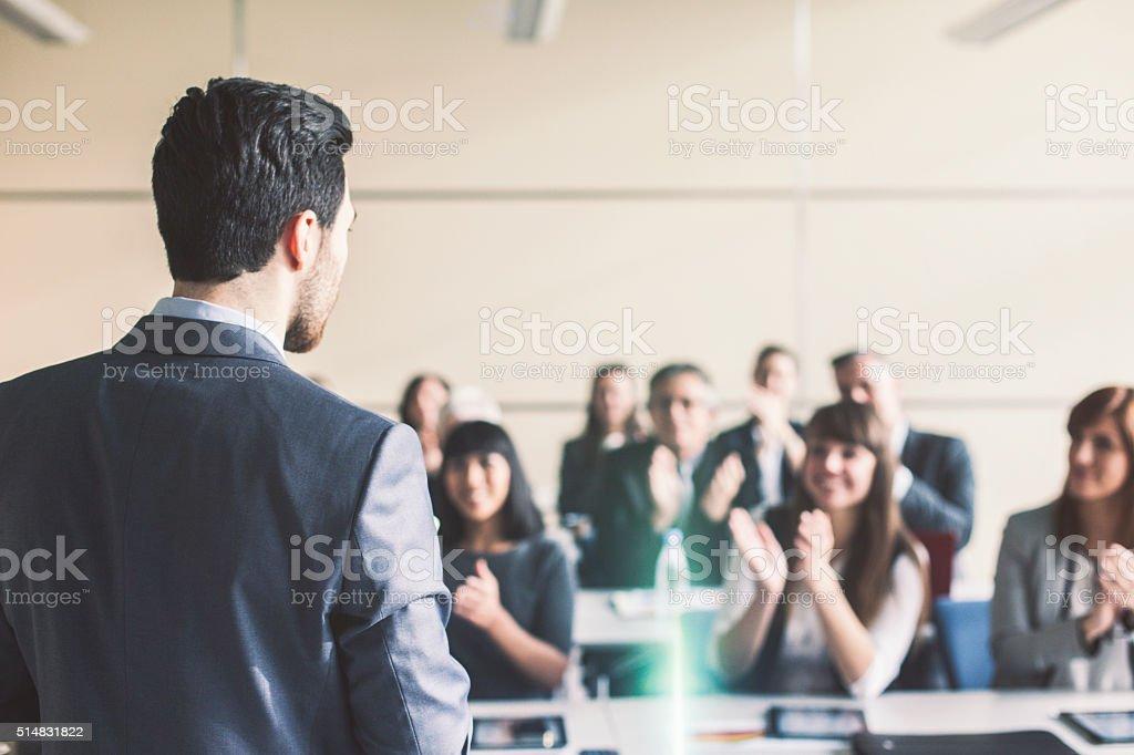 Presentación de negocios - foto de stock