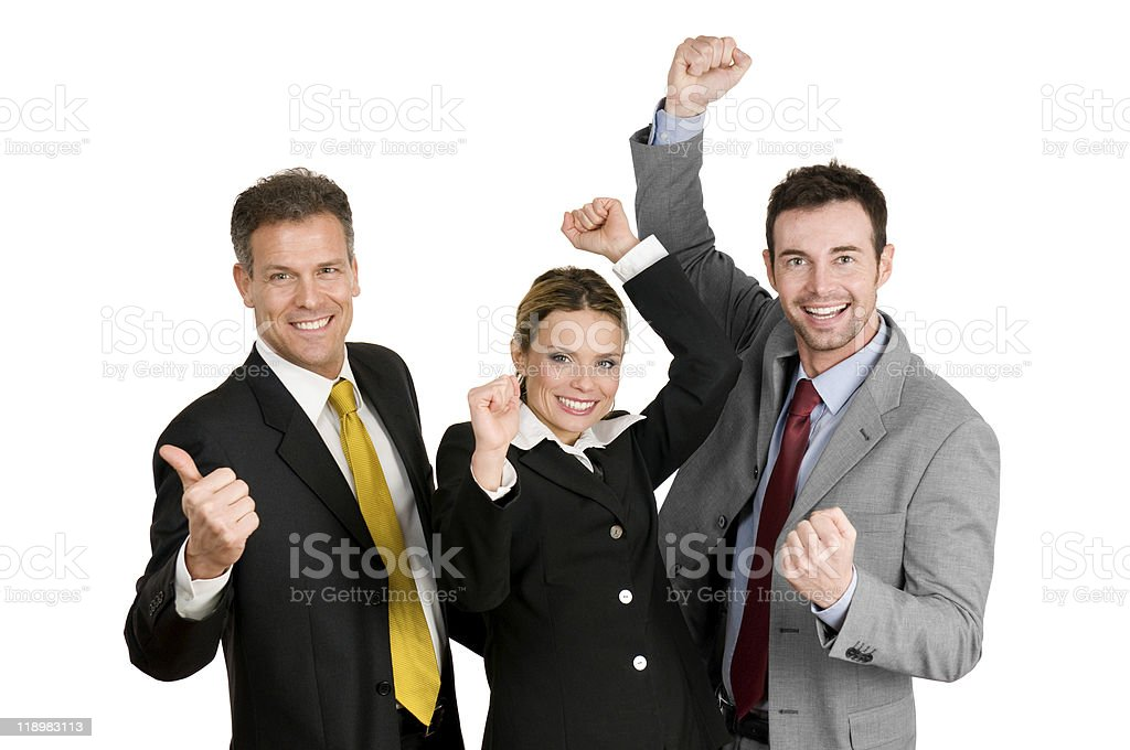 Successful business team celebration royalty-free stock photo