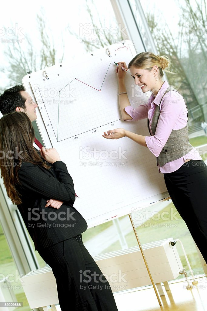 successful business team is wokring on a chart stock photo