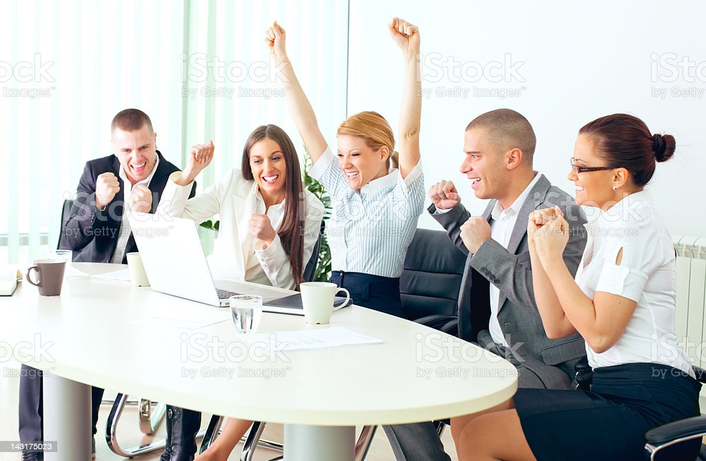 Successful Business Team. royalty-free stock photo