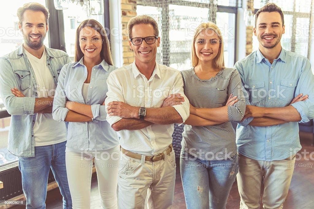 Successful business team stock photo
