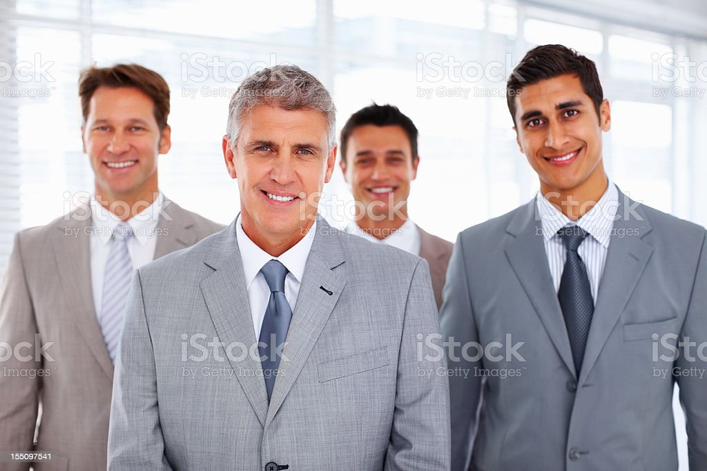 Successful business team with a leader royalty-free stock photo