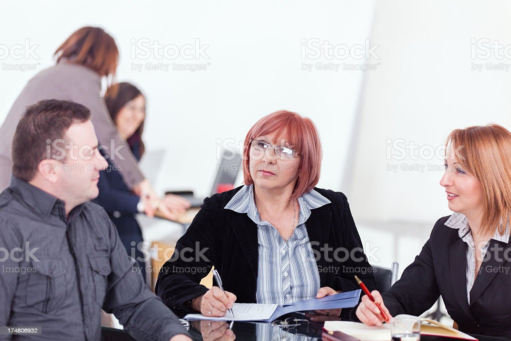 Successful business team working royalty-free stock photo