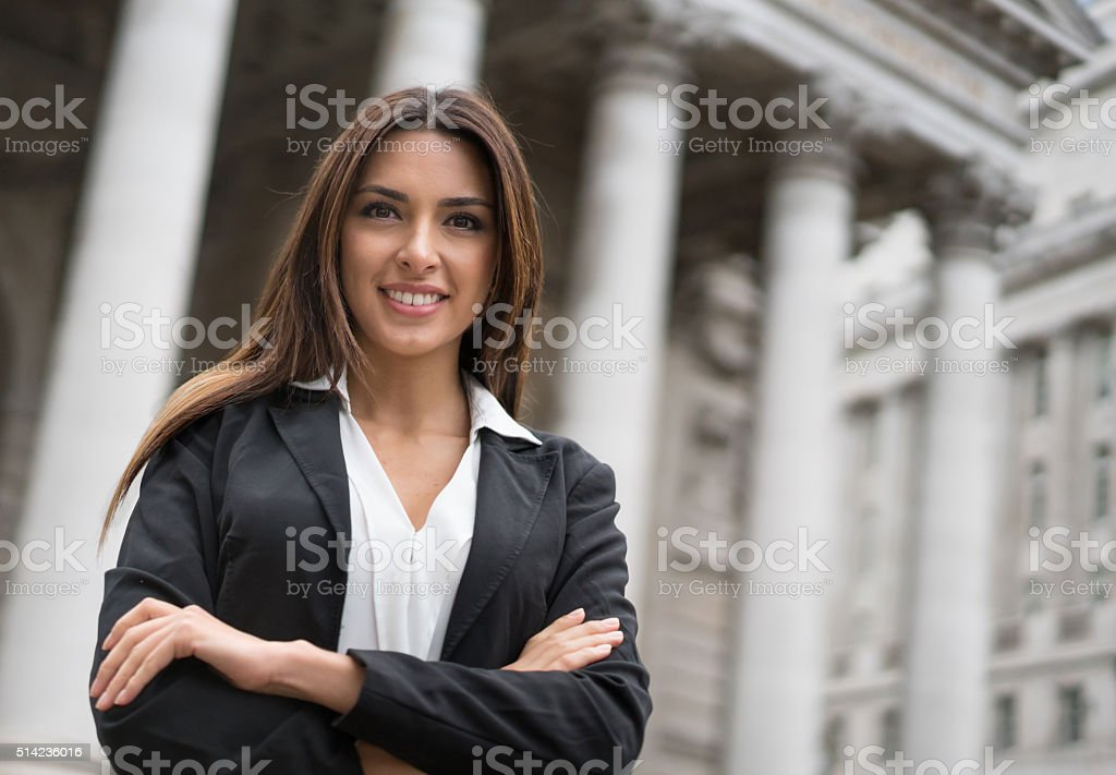 Successful business woman or lawyer stock photo
