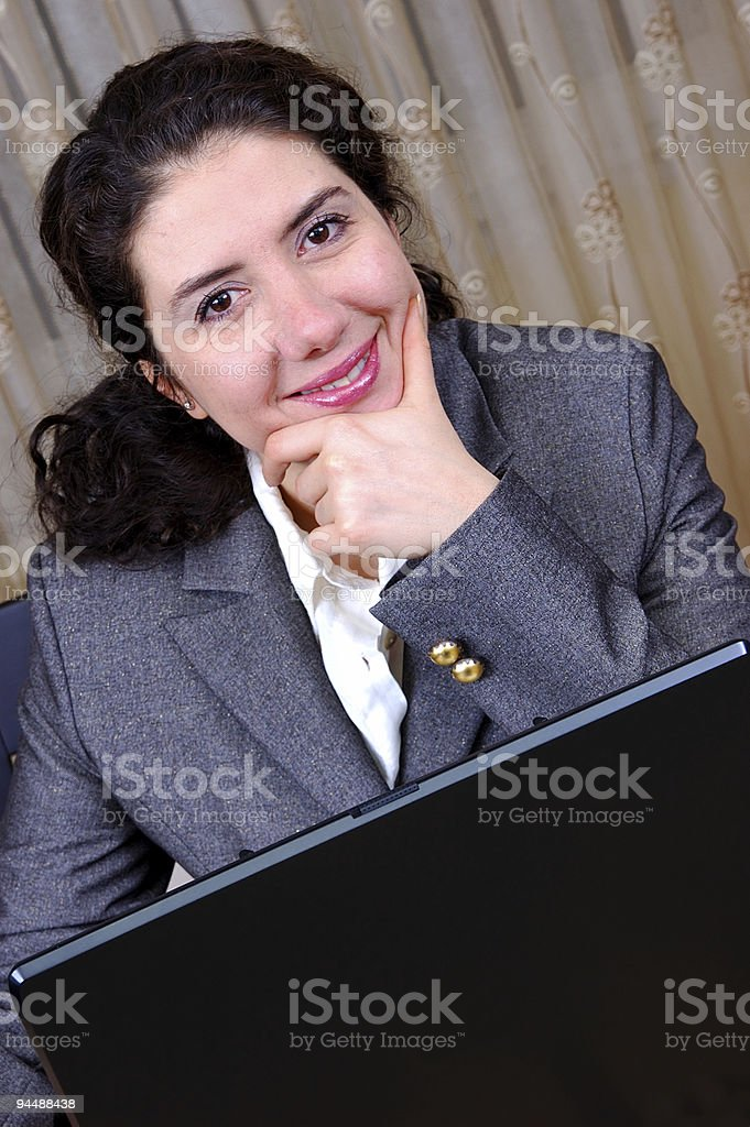 Successful Business Woman with Laptop royalty-free stock photo