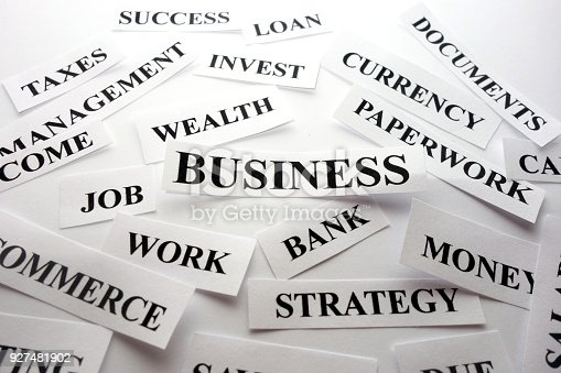 istock Successful business words 927481902