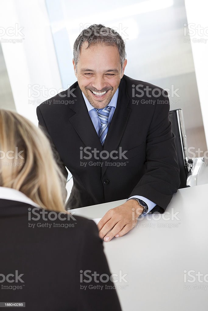 Successful businessman at the interview royalty-free stock photo