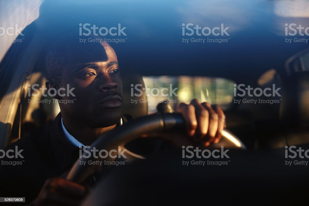 successful businessman car stock photo