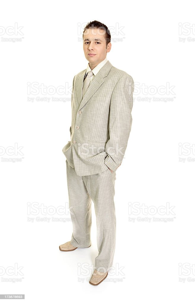 Successful businessman isolated on white royalty-free stock photo