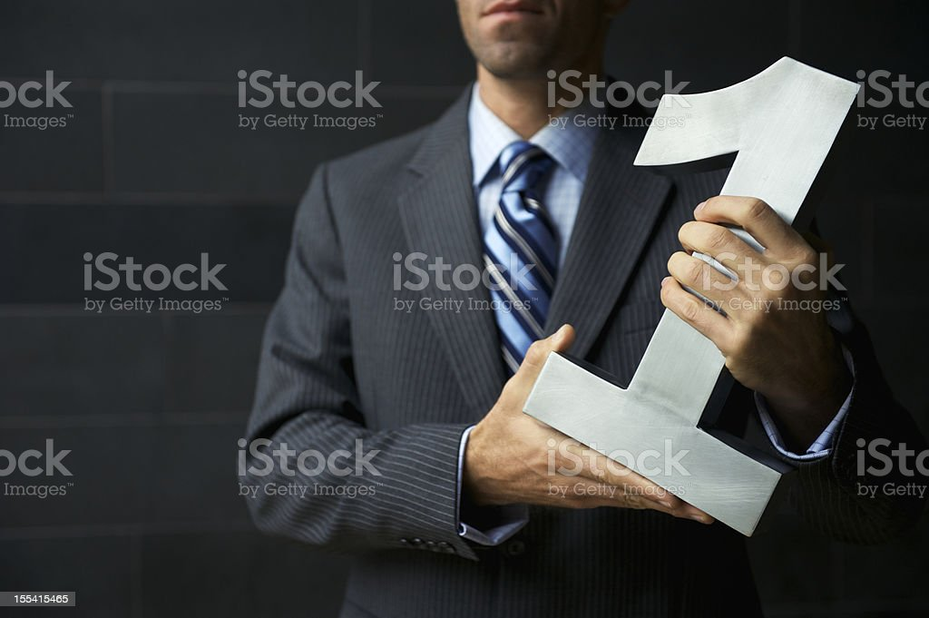 Successful Businessman Number One Business Dark Suit royalty-free stock photo