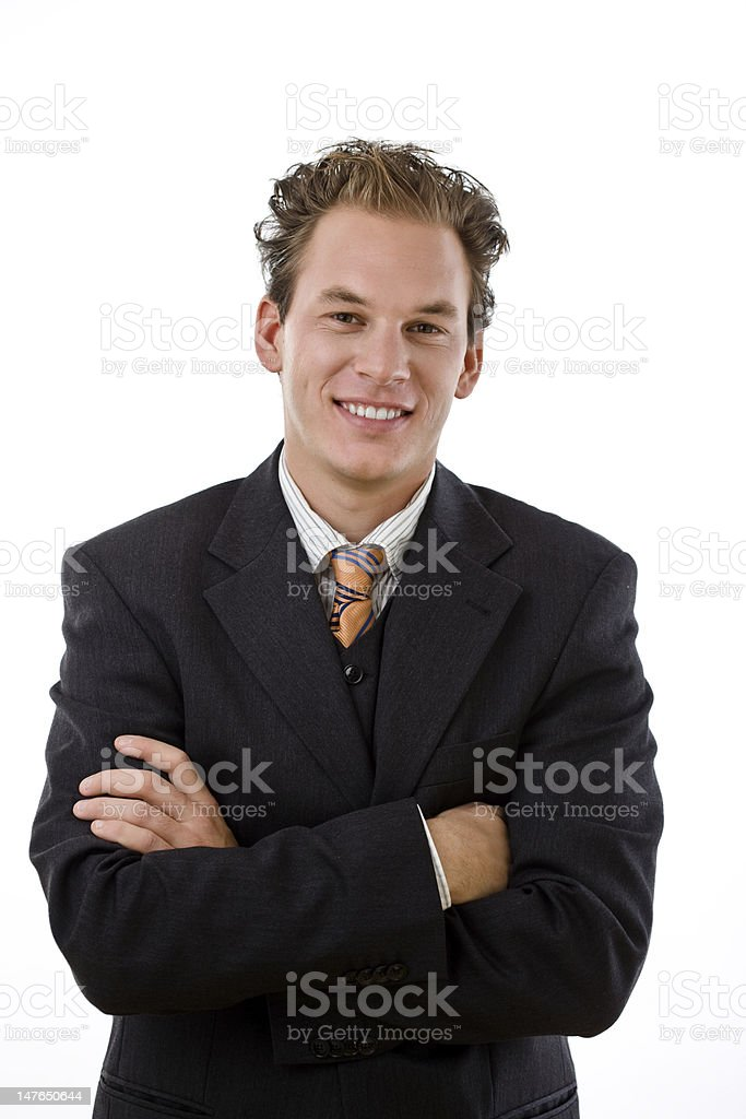 Successful businessman smiling royalty-free stock photo