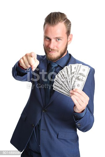 istock Successful businessman with cash 501489558