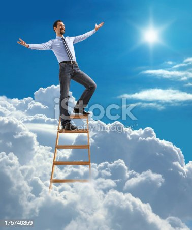 istock Successful businessman with open arms 175740359