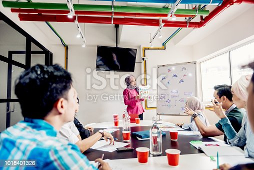 496441730istockphoto Successful businesswoman explaning the tools and strategies for start-ups 1018401326