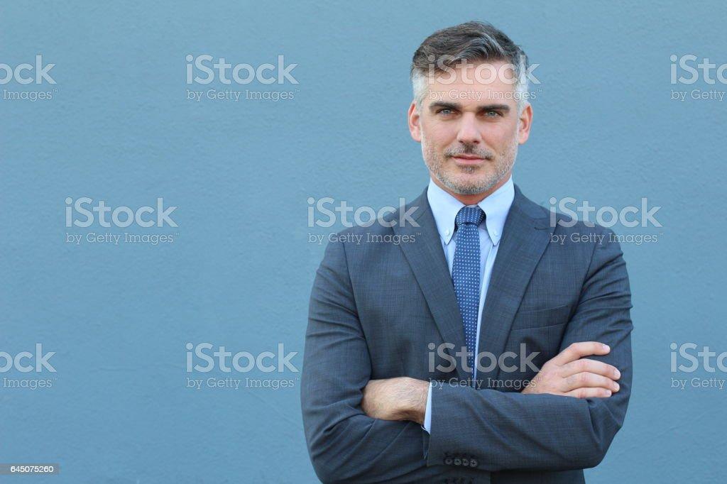 Successful Caucasian elegant businessman isolated stock photo