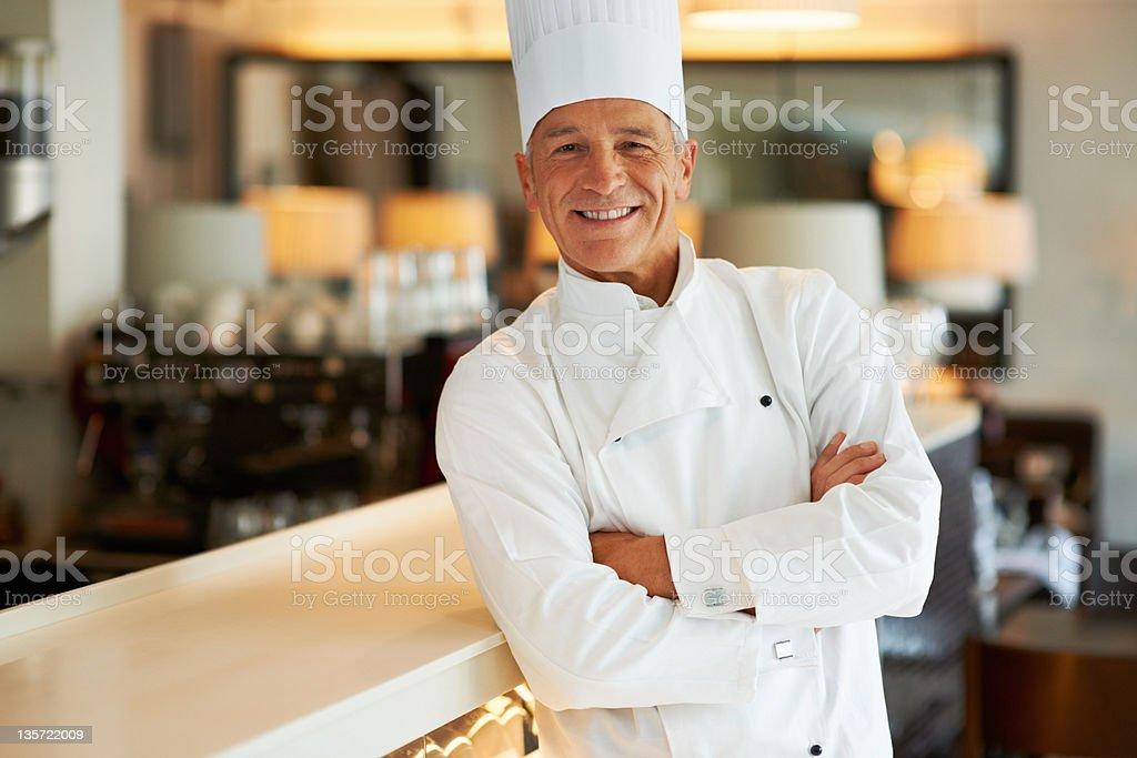 Successful chef stock photo
